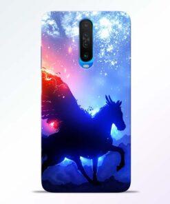 Black Horse Poco X2 Back Cover