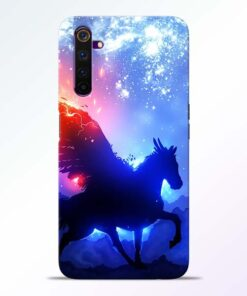 Black Horse Realme 6 Back Cover