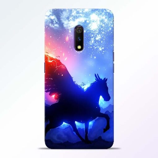 Black Horse Realme X Back Cover