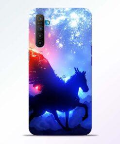 Black Horse Realme XT Back Cover