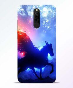 Black Horse Redmi 8 Back Cover