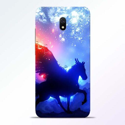 Black Horse Redmi 8A Back Cover