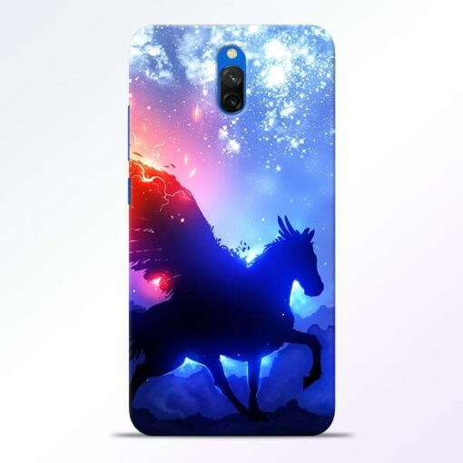 Black Horse Redmi 8A Dual Back Cover