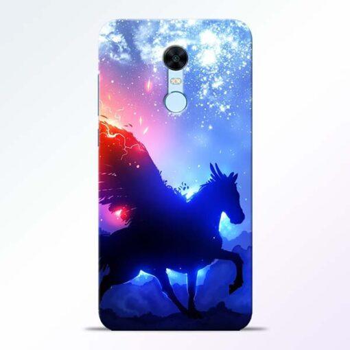 Black Horse Redmi Note 5 Back Cover