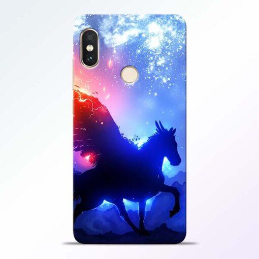 Black Horse Redmi Note 5 Pro Back Cover