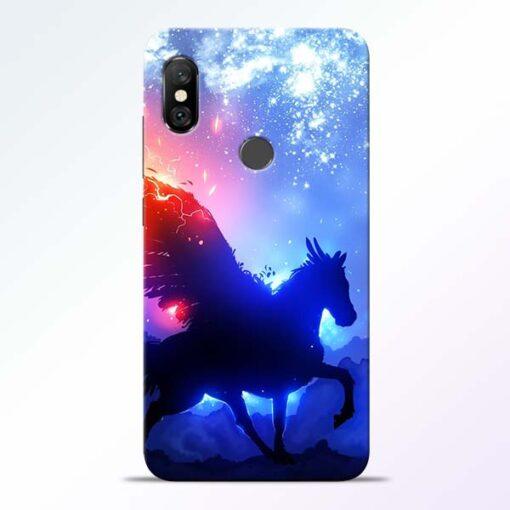 Black Horse Redmi Note 6 Pro Back Cover