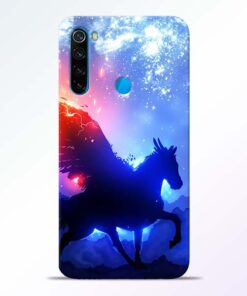 Black Horse Redmi Note 8 Back Cover