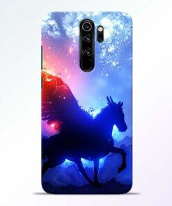 Black Horse Redmi Note 8 Pro Back Cover