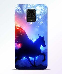 Black Horse Redmi Note 9 Pro Back Cover