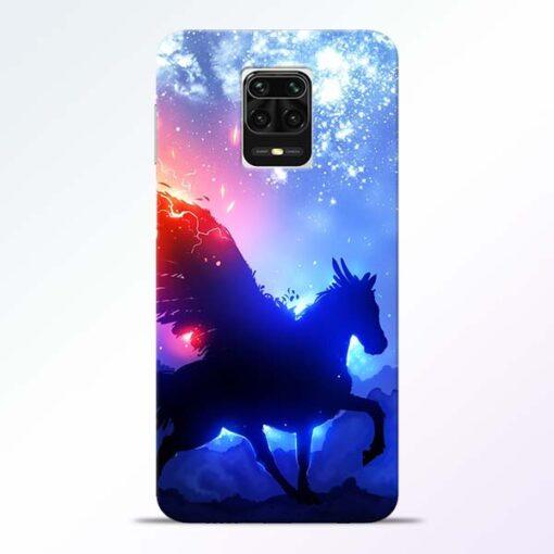 Black Horse Redmi Note 9 Pro Max Back Cover