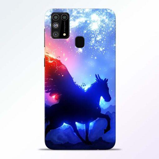 Black Horse Samsung Galaxy M31 Back Cover