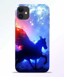 Black Horse iPhone 11 Back Cover
