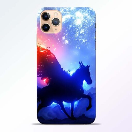 Black Horse iPhone 11 Pro Back Cover