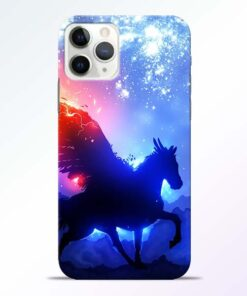 Black Horse iPhone 11 Pro Max Back Cover