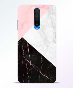 Black Marble Poco X2 Back Cover