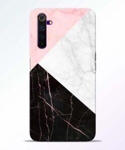 Black Marble Realme 6 Back Cover