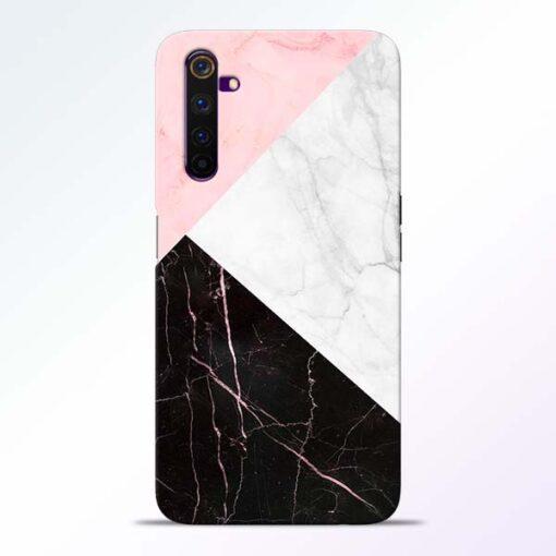 Black Marble Realme 6 Pro Back Cover