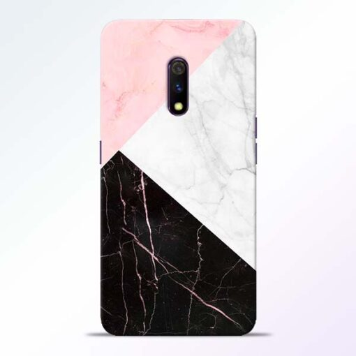 Black Marble Realme X Back Cover