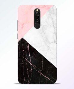 Black Marble Redmi 8 Back Cover