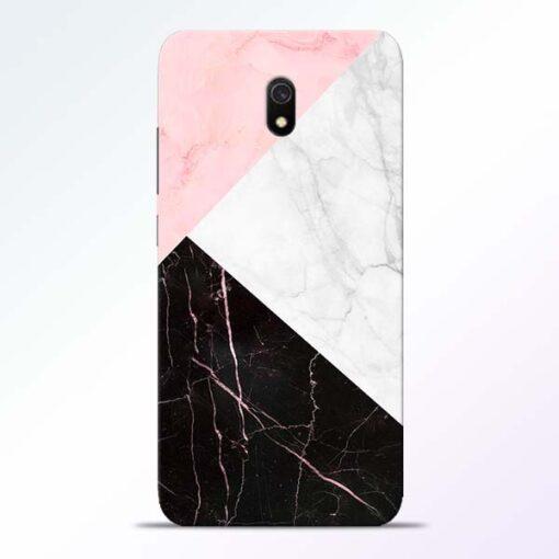 Black Marble Redmi 8A Back Cover