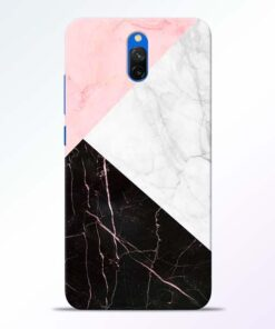 Black Marble Redmi 8A Dual Back Cover