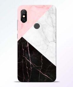 Black Marble Redmi Note 6 Pro Back Cover