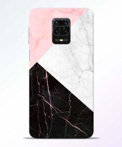 Black Marble Redmi Note 9 Pro Back Cover