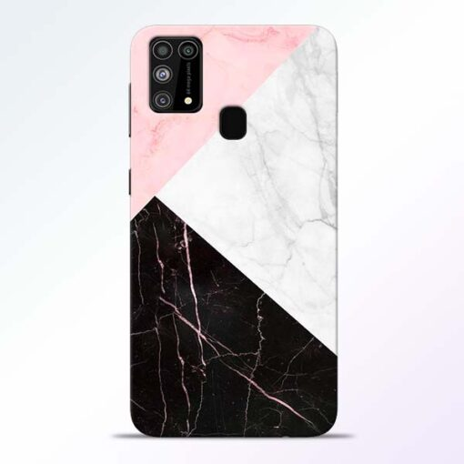 Black Marble Samsung Galaxy M31 Back Cover