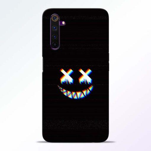 Black Marshmallow Realme 6 Back Cover