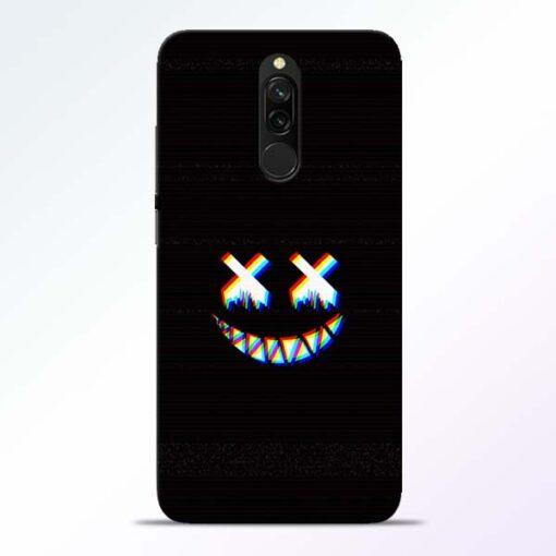 Black Marshmallow Redmi 8 Back Cover