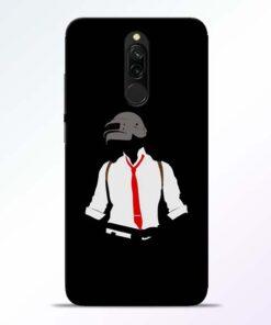 Black Pubg Redmi 8 Back Cover