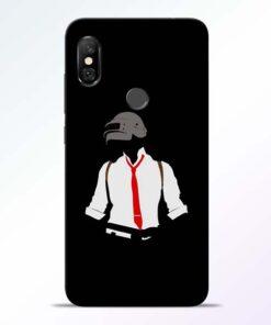 Black Pubg Redmi Note 6 Pro Back Cover