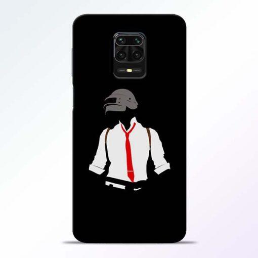 Black Pubg Redmi Note 9 Pro Back Cover