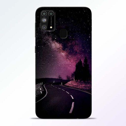 Black Road Samsung Galaxy M31 Back Cover