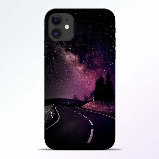 Black Road iPhone 11 Back Cover