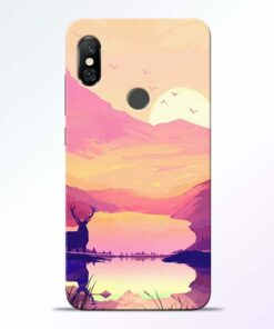 Deer Nature Redmi Note 6 Pro Back Cover