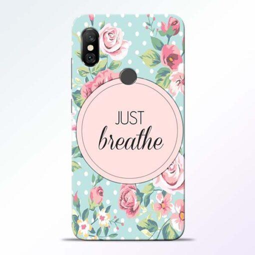 Just Breathe Redmi Note 6 Pro Back Cover
