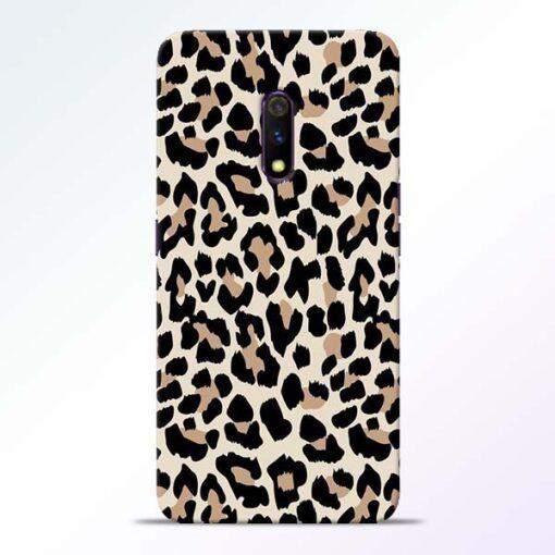 Leopard Pattern Realme X Back Cover