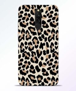 Leopard Pattern Redmi 8 Back Cover