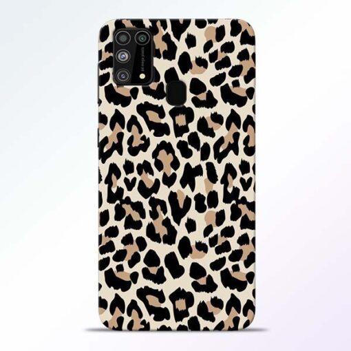 Leopard Pattern Samsung Galaxy M31 Back Cover