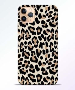Leopard Pattern iPhone 11 Pro Back Cover