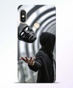 Neon Face Redmi Note 5 Pro Back Cover