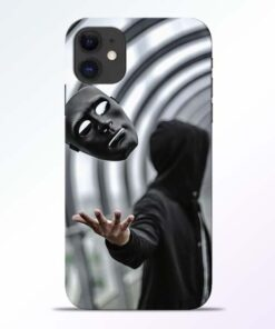 Neon Face iPhone 11 Back Cover
