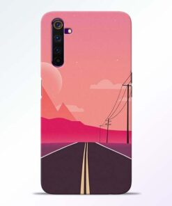 Pink Road Realme 6 Pro Back Cover