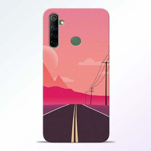 Pink Road Realme 6i Back Cover