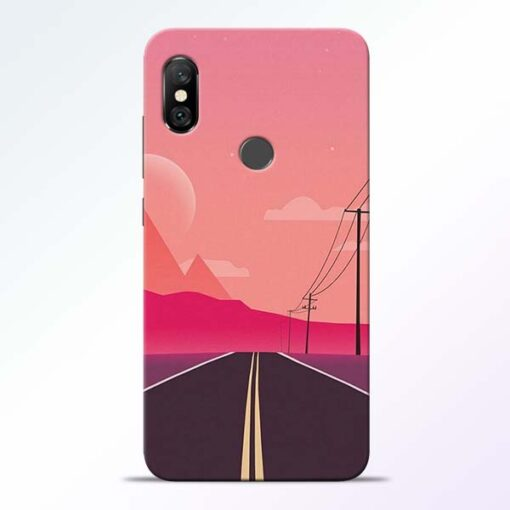 Pink Road Redmi Note 6 Pro Back Cover