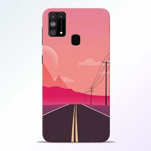 Pink Road Samsung Galaxy M31 Back Cover