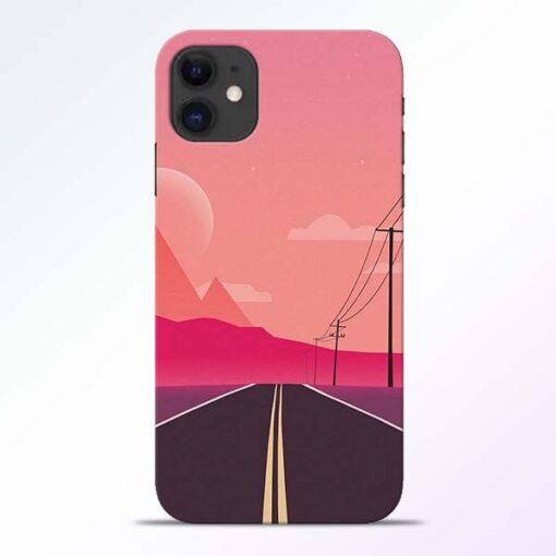 Pink Road iPhone 11 Back Cover