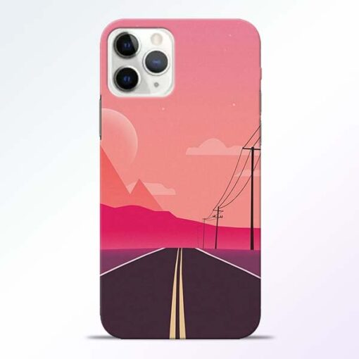 Pink Road iPhone 11 Pro Max Back Cover