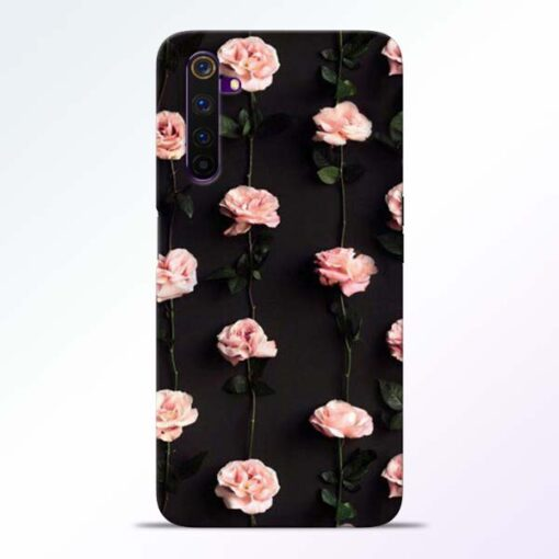 Pink Rose Realme 6 Pro Back Cover